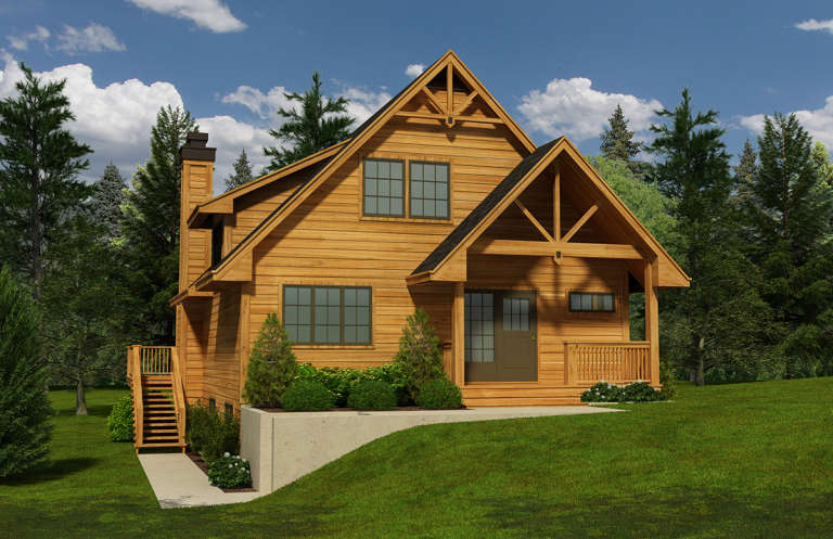 Cottage House Plan #4177-00015 Elevation Photo