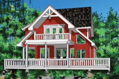 2 Bed, 2 Bath, 1904 Square Foot House Plan - #4177-00019