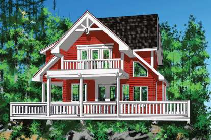 3 Bed, 2 Bath, 2912 Square Foot House Plan - #4177-00020