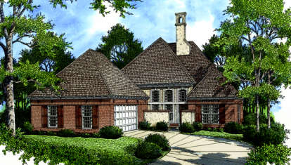 3 Bed, 3 Bath, 2366 Square Foot House Plan - #048-00154