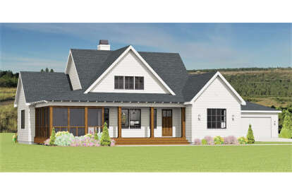 3 Bed, 2 Bath, 1697 Square Foot House Plan #3125-00022