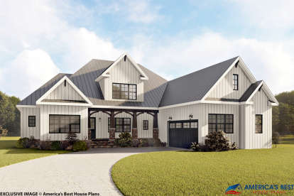 4 Bed, 3 Bath, 3390 Square Foot House Plan #6849-00044