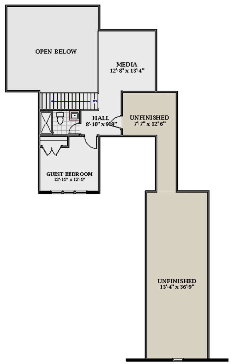 Second Floor for House Plan #6849-00044