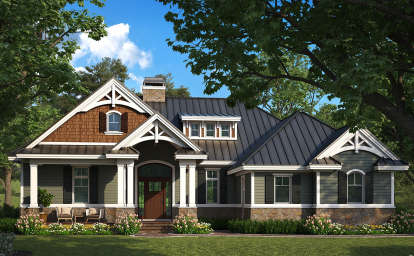 2 Bed, 2 Bath, 1610 Square Foot House Plan #1018-00282