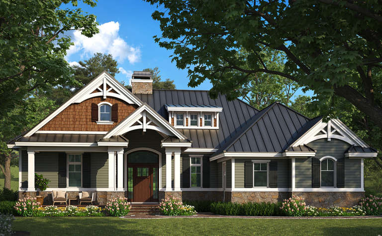 Craftsman House Plan #1018-00282 Elevation Photo