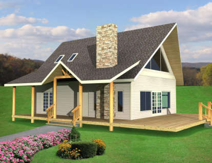 2 Bed, 2 Bath, 1500 Square Foot House Plan - #039-00494