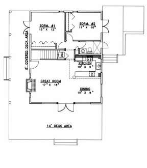 Main Floor for House Plan #039-00494