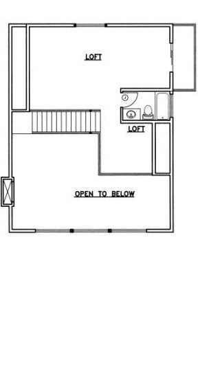 Loft Floor for House Plan #039-00494