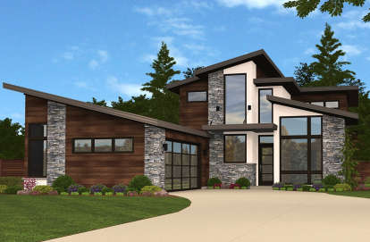 3 Bed, 2 Bath, 2434 Square Foot House Plan #1022-00002