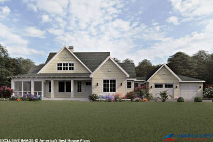 3 Bed, 2 Bath, 1697 Square Foot House Plan #3125-00025