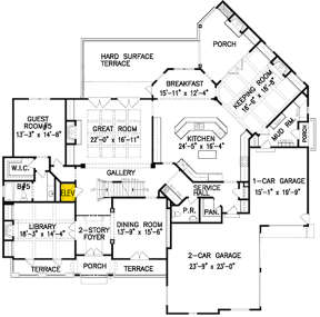 Main Floor for House Plan #699-00097