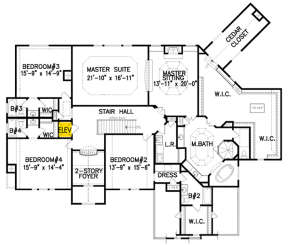 Second Floor for House Plan #699-00097