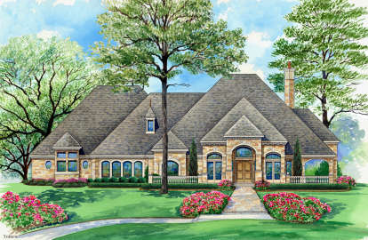 5 Bed, 5 Bath, 7365 Square Foot House Plan - #5445-00312