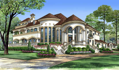 4 Bed, 4 Bath, 5413 Square Foot House Plan - #5445-00314