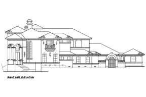 Luxury House Plan #5445-00314 Elevation Photo