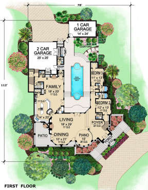 First floor for House Plan #5445-00314
