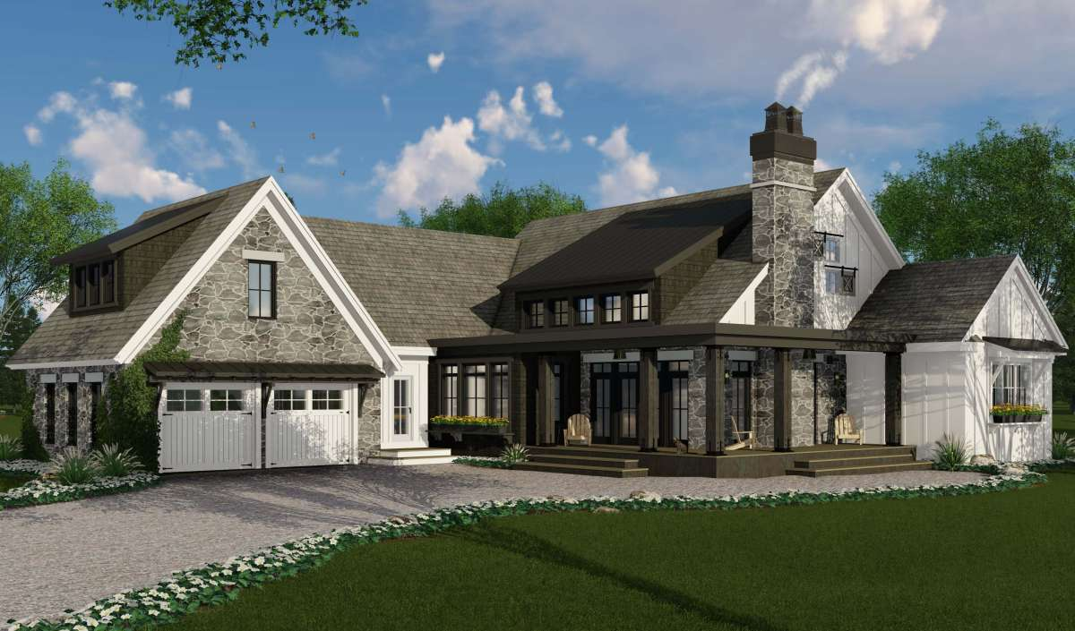 Modern Farmhouse Plan 2 483 Square Feet 3 Bedrooms 2 5