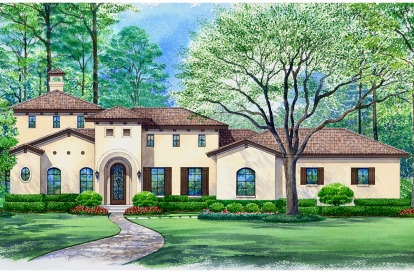 3 Bed, 3 Bath, 3935 Square Foot House Plan - #5445-00318