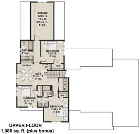 Second Floor for House Plan #098-00302