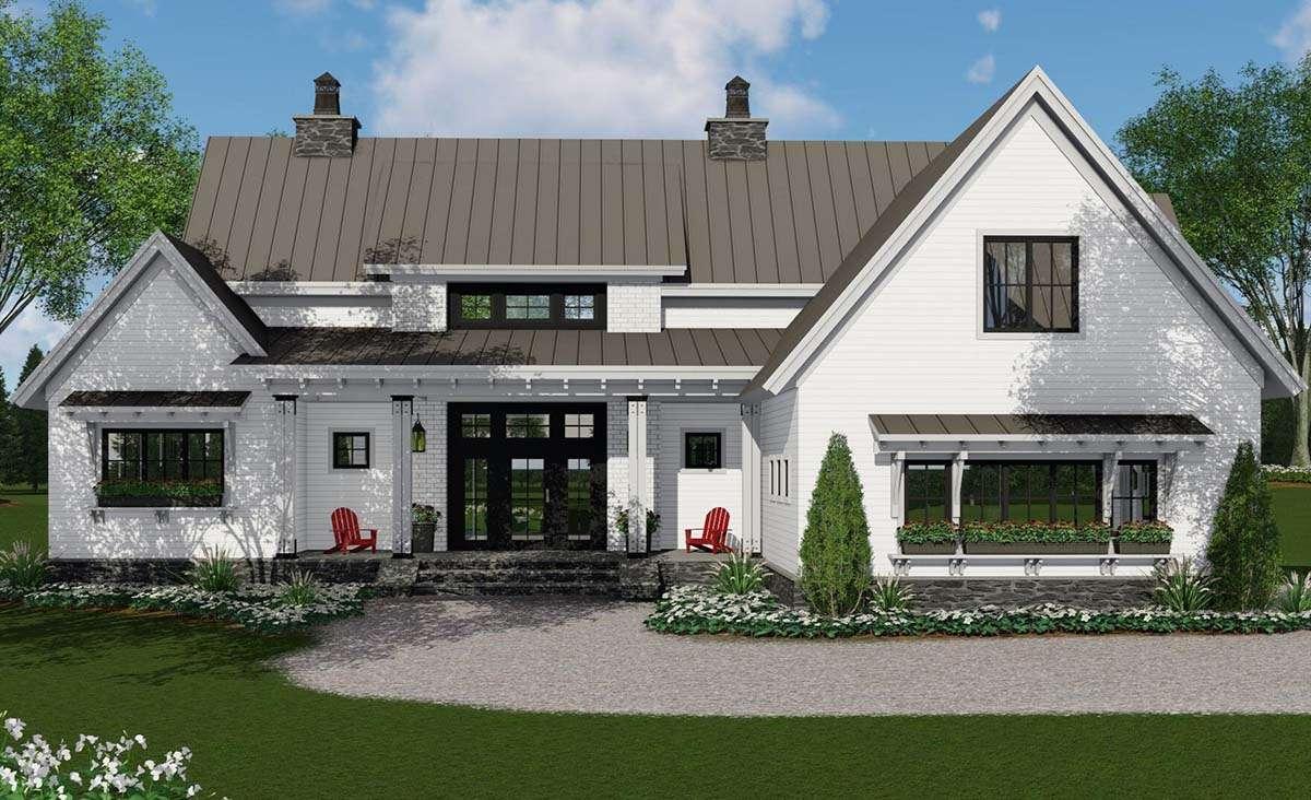 Modern Farmhouse Plan: 2,125 Square Feet, 3 Bedrooms, 2.5 ...