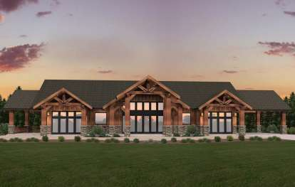 3 Bed, 3 Bath, 4130 Square Foot House Plan - #1022-00016