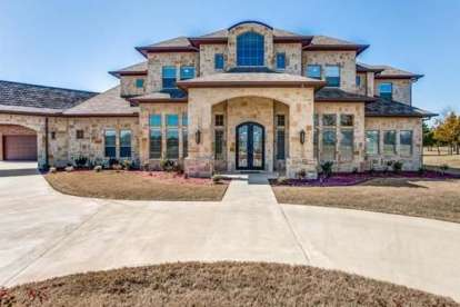 6 Bed, 5 Bath, 7138 Square Foot House Plan - #5445-00325