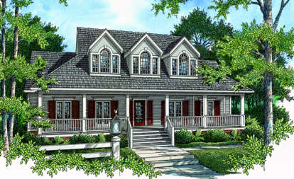 4 Bed, 3 Bath, 2598 Square Foot House Plan - #048-00160