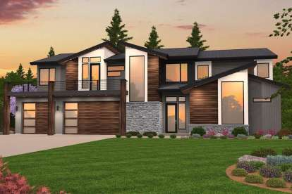 5 Bed, 4 Bath, 3738 Square Foot House Plan - #1022-00030