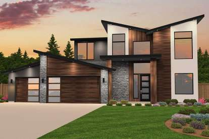 4 Bed, 3 Bath, 2877 Square Foot House Plan #1022-00033