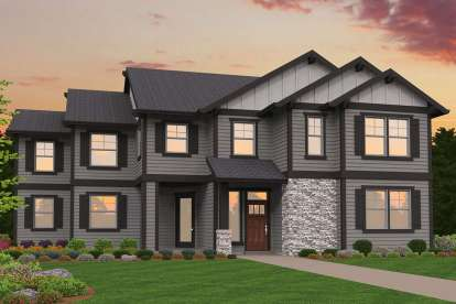 5 Bed, 3 Bath, 2806 Square Foot House Plan - #1022-00039