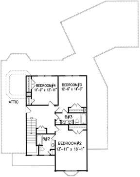 Second Floor for House Plan #699-00099