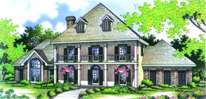 4 Bed, 2 Bath, 2605 Square Foot House Plan - #048-00162