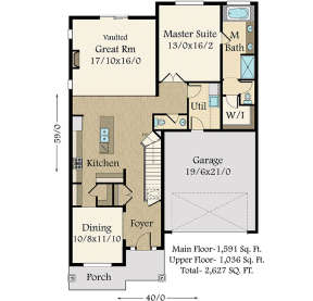 Main Floor for House Plan #1022-00046