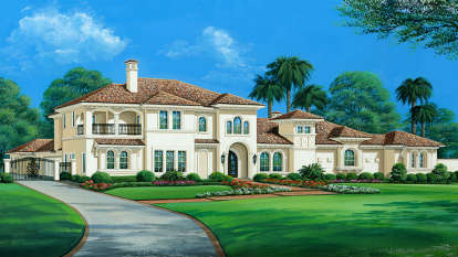 4 Bed, 5 Bath, 8647 Square Foot House Plan - #5445-00331