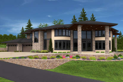 4 Bed, 4 Bath, 5468 Square Foot House Plan - #1022-00058