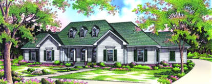 3 Bed, 2 Bath, 2648 Square Foot House Plan - #048-00164
