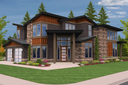 5 Bed, 4 Bath, 4100 Square Foot House Plan - #1022-00075
