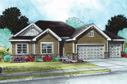 3 Bed, 2 Bath, 1750 Square Foot House Plan - #402-01512