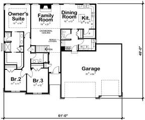 Main Floor for House Plan #402-01512