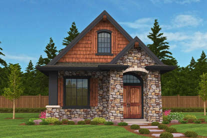 1 Bed, 1 Bath, 640 Square Foot House Plan - #1022-00085