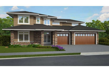 5 Bed, 3 Bath, 3672 Square Foot House Plan - #1022-00094
