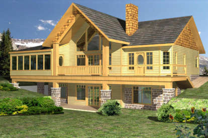 2 Bed, 3 Bath, 3304 Square Foot House Plan - #039-00499