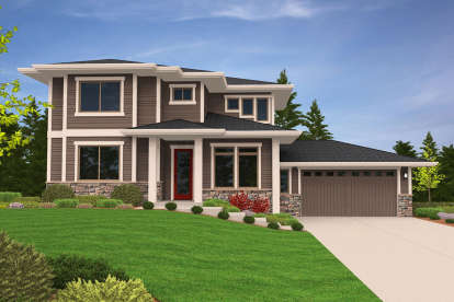 3 Bed, 2 Bath, 1887 Square Foot House Plan - #1022-00113