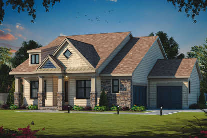 3 Bed, 2 Bath, 1759 Square Foot House Plan - #402-01520