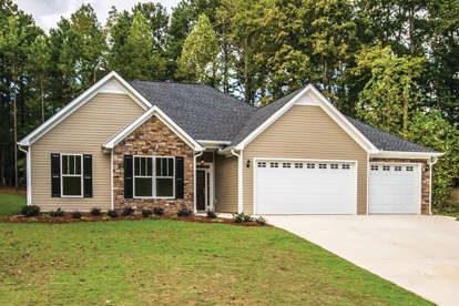 3 Bed, 2 Bath, 1635 Square Foot House Plan - #402-01540