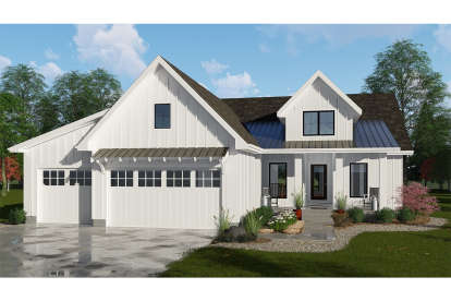 3 Bed, 2 Bath, 1733 Square Foot House Plan - #963-00160