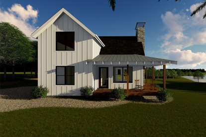 1 Bed, 1 Bath, 989 Square Foot House Plan #963-00178