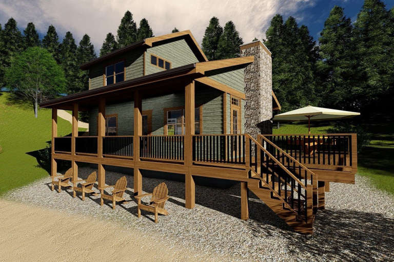 Vacation House Plan #963-00179 Elevation Photo