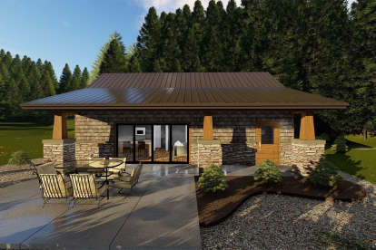 2 Bed, 1 Bath, 914 Square Foot House Plan - #963-00180
