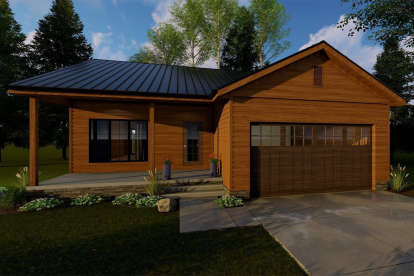1 Bed, 1 Bath, 831 Square Foot House Plan - #963-00182